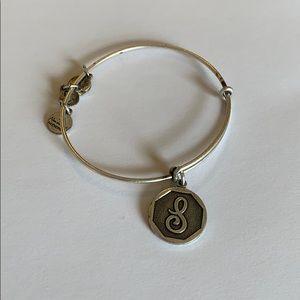 "Alex and Ani ""S"" letter bracelet"